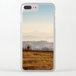 Sunset in the vineyards of Collio, Italy Clear iPhone Case