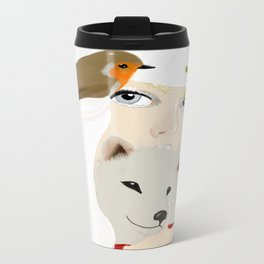 She is the reason for Winter Metal Travel Mug