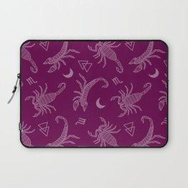 Scorpio Moon on Pink Laptop Sleeve