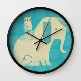 OWL & ELEPHANT Wall Clock
