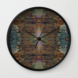 Nebulous Portal Emergence (Electric Gateway) (Reflected) Wall Clock