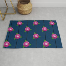 Stained Glass Roses Rug