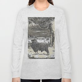 Sheep in a landscape , Richard Roland Holst, 1878 Long Sleeve T-shirt