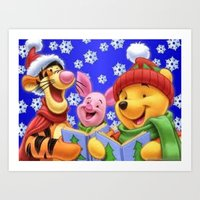 pooh Art Prints featuring pooh 2 by Just Be Love