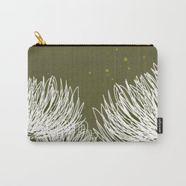 Olive Doodle Floral by Friztin Carry-All Pouch