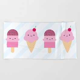 Summer Ice Cream Treats Beach Towel