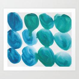 23   |  190408 Blue Abstract Watercolour Art Print