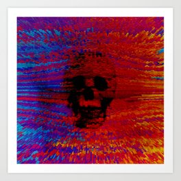 color skull Art Print