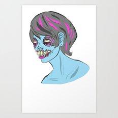 Zombie Girl Art Print