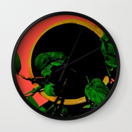 Potted Pothos Wall Clock