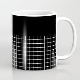 Dotted Grid Boarder Black Coffee Mug