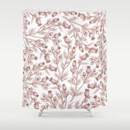 Thistle in Autumn Shower Curtain
