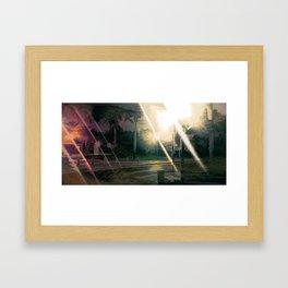 City Park at night 3 Framed Art Print