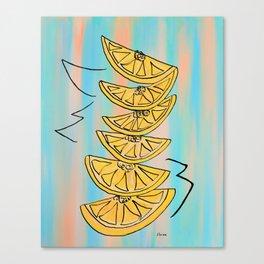 A Stack of Lemon Slices - Modern Canvas Print
