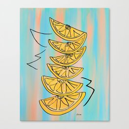 A Stack of Lemon Slices - Modern Canvas Print