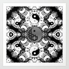 YinYang Sacred Geometry Totem Art Print