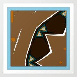Brown Zags Art Print