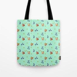 Foxy Nerd Pattern Tote Bag