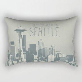 I LEFT MY HEART IN SEATTLE Rectangular Pillow