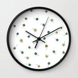 4 Leaf Clovers Wall Clock