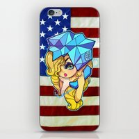telephone iPhone & iPod Skins featuring Telephone by Mickey Spectrum
