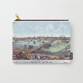 TOLEDO OHIO city old map Father Day art print poster Carry-All Pouch