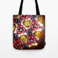 kaleidoscope Tote Bags featuring Kaleidoscope by Amber Dawn Hilton