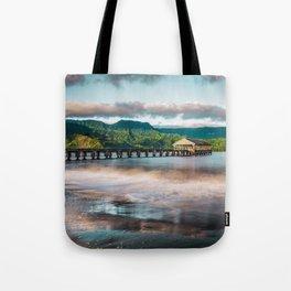 Hanalei Pier Kauai Hawaii  Tote Bag