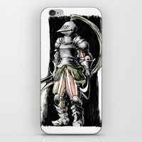 knight iPhone & iPod Skins featuring Knight by Vagelio
