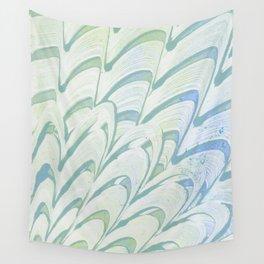 Blue Grey Fanning Wall Tapestry