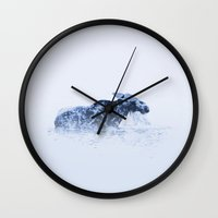 moose Wall Clocks featuring Moose by fly fly away