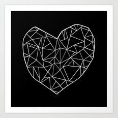 Abstract Heart Art Print