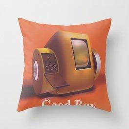 Vintage Videofone ad ( Total Recall 1990 fan art) Green Edition Throw Pillow