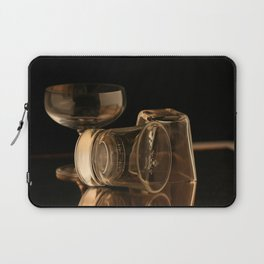 Glasses in Gold Tones Laptop Sleeve
