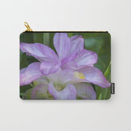 Tropical Pink Flower Carry-All Pouch