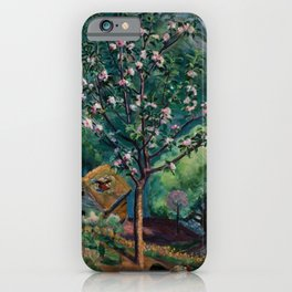 Apple Tree and Daffodils in Bloom alpine landscape painting by Nikolai Astrup iPhone Case