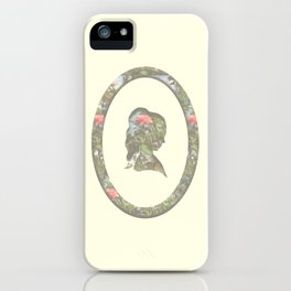 floral silhouette iPhone Case