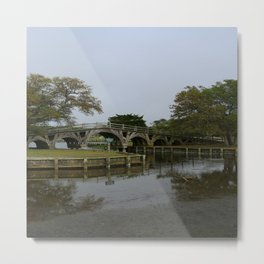 Historic Wooden Bridge At Currituck Light Station Metal Print
