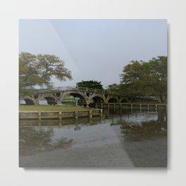 Historic Wooden Bridge At Currituck Light Station Metal Print