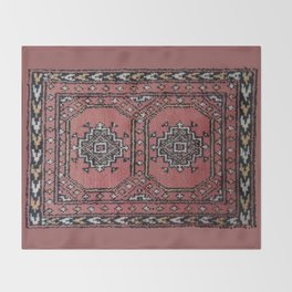Traditional Rug - Pink Throw Blanket