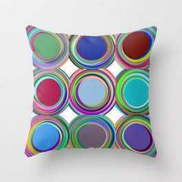 3x3 008 - paint cans Throw Pillow