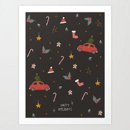 Ho Ho Ho Happy Holidays! Art Print