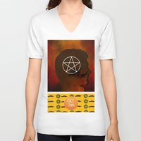 dean winchester V-neck T-shirts featuring dean winchester by Papa-Paparazzi