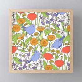 Birds and Wild Blooms Framed Mini Art Print