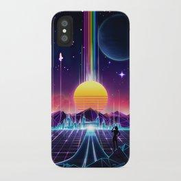Neon Sunrise iPhone Case