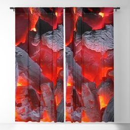 Glowing Coals Blackout Curtain