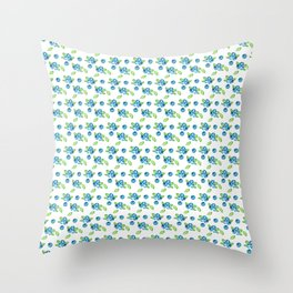 Blueberry Watercolour Pattern Throw Pillow