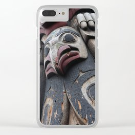 Totem pole Seattle Clear iPhone Case