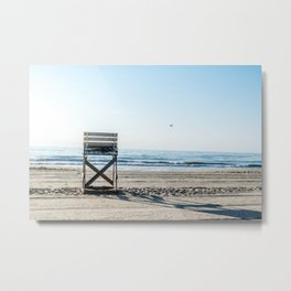While the Lifeguards Away Metal Print