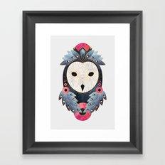Owl 1 - Light Framed Art Print